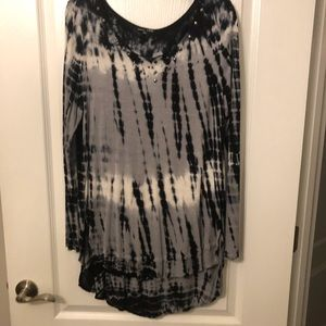 rxb  long sleeved tie dyed tunic